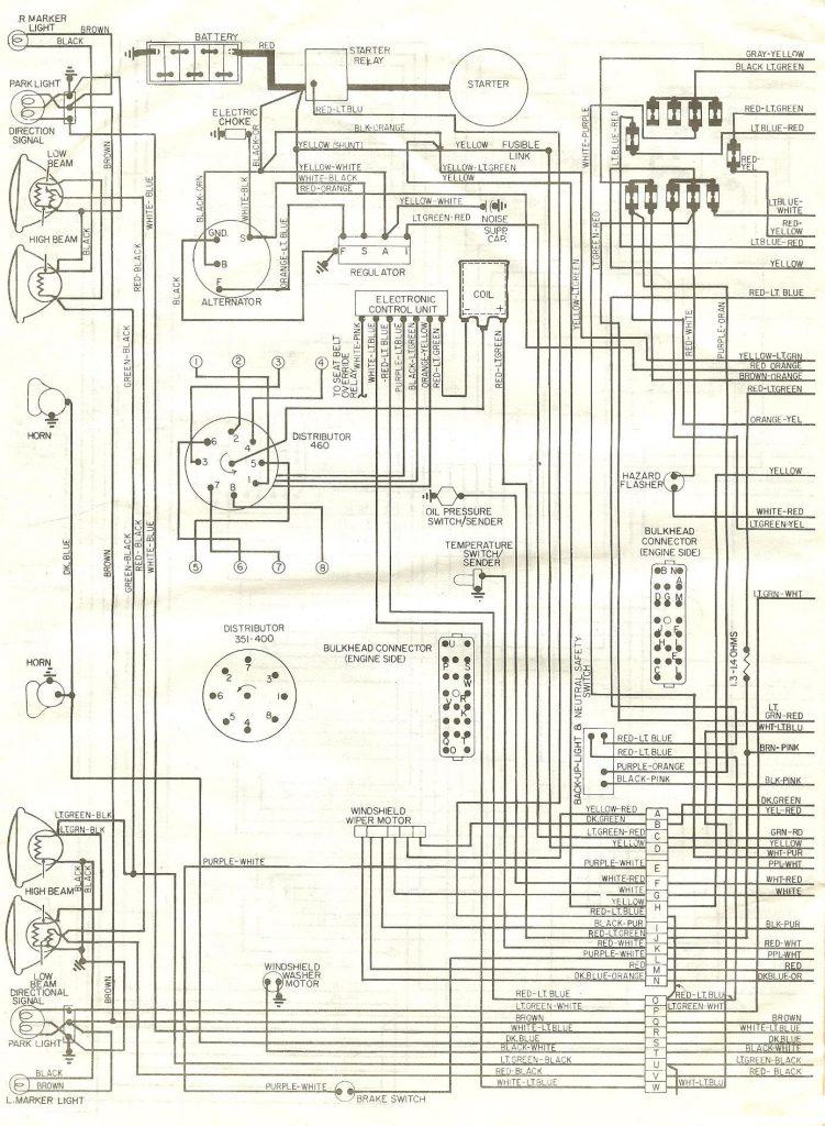 Sch U00e9ma  U00e9lectrique Ford Ranchero 1976
